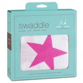 Aden + Anais Twinkle Pink Swaddle by  Image