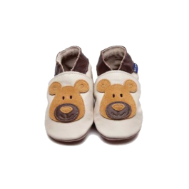 Bear Cream/Tan Baby Shoes Image