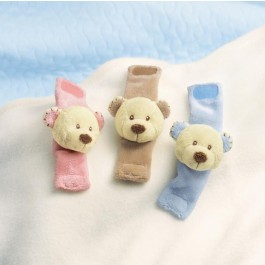 Cozy Cuddles Teddy Bear Wrist Rattle  Image