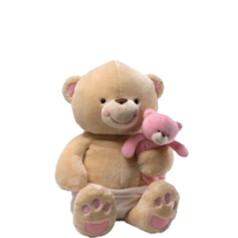Cuddly Cubs Baby Girl Bear by Gund Image