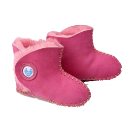 Cwtch Sheepskin Pink Boots Image