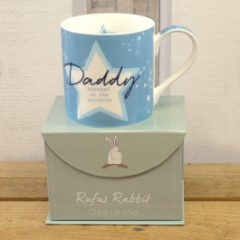 Daddy China Gift Mug by Rufus Rabbit Image