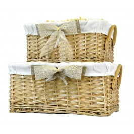 Deep Fabric Lined Gift Basket Image