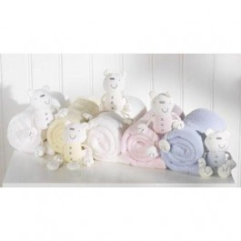 Luxury Fleece Pram Blanket & Teddy - Periwinkle Blue Image