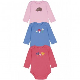 Frugi Organic Long-Sleeved Body-Suits (0-3 months) Image