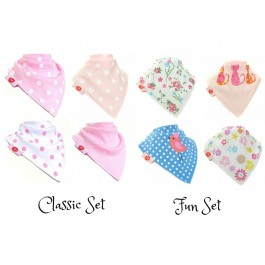 Bibs For Girls (Pack of 4) by Zippy Baby Image