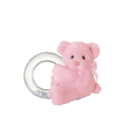 My First Teddy Pink Ring Rattle Image
