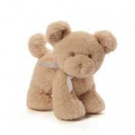 Gund Oh So Soft Puppy Tan Rattle Image