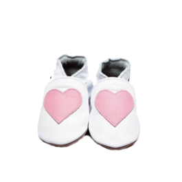 Soft Leather Shoes - Pink Heart Image