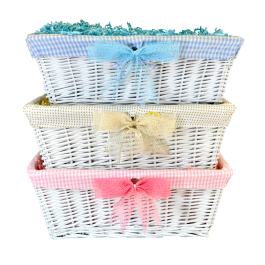 Large White Wicker Basket Image
