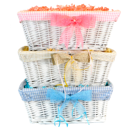 Medium White Gift Basket Image