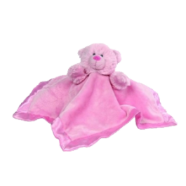 Hug-a-Boo Teddy Bear Blankie Pink Image