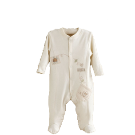 Hug Me Bear Embroidered Sleepsuit Image