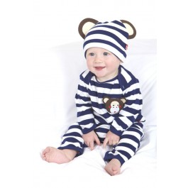 Michael the Monkey Playsuit and Hat (0-6 months) Image