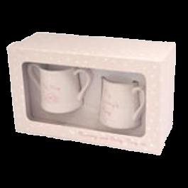 Mummy & Baby Mug Set Pink Image
