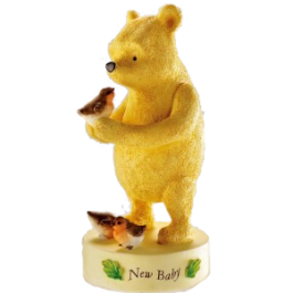Winnie The Pooh New Baby Figurine by Border Fine Arts Image