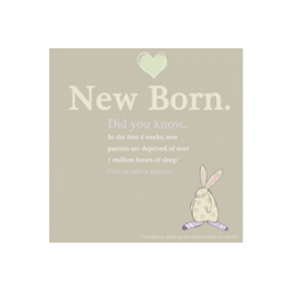 Rufus Rabbit New Born Card Image