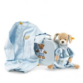 Steiff Good Night Dog Comforter Gift Set Image