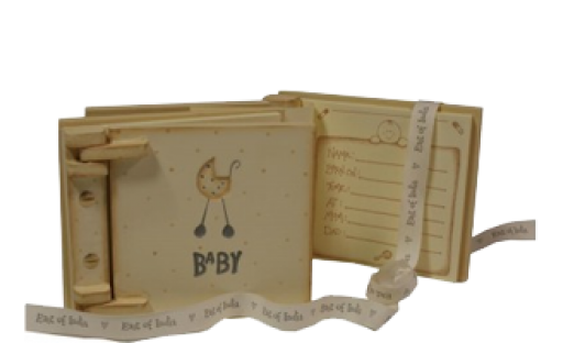 Wooden Baby Record Book