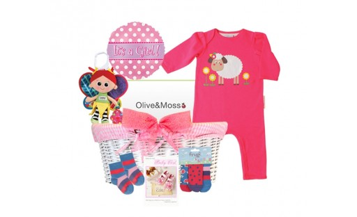 Cutey Pie Baby Girl gift basket