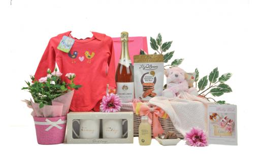 Flowers & Fizz Mummy Daddy & Baby Girl Hamper