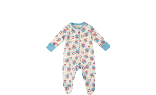 Lovely Babygrow Harbour by Frugi Organics