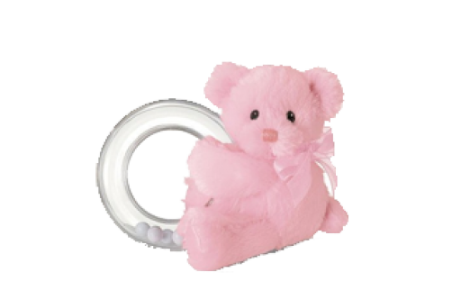 Bear Ring Rattle by Gund