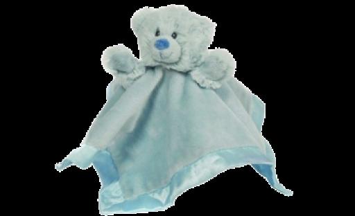 teddy blankie comforter blue