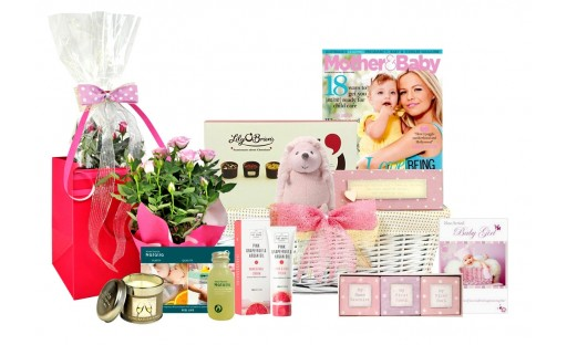 New Mother Survival Baby Girl Basket