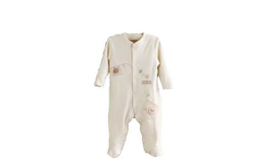Hug Me Bear Embroidered Sleepsuit