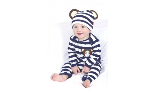 Michael the Monkey Playsuit and Hat