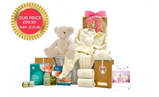 Organic Baby Girl Basket