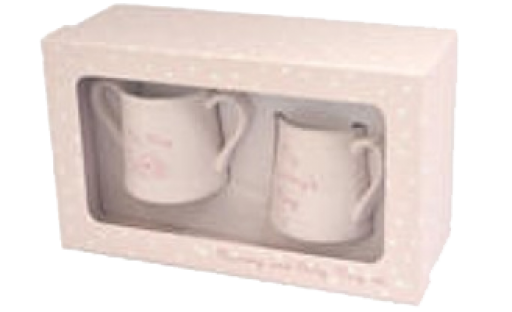 Love Home Mummy & Baby Mug Set Pink