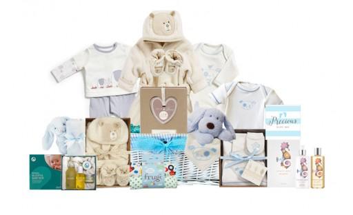 Purely Organic Baby Boy Gift Basket