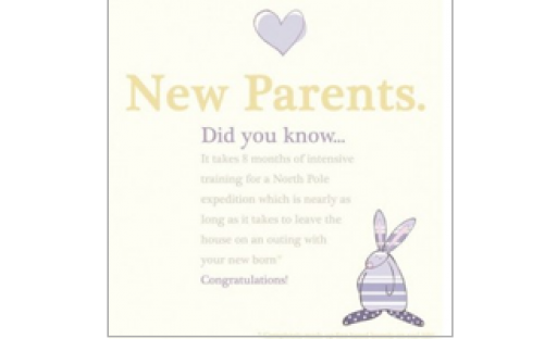 Rufus Rabbit New Parents Card