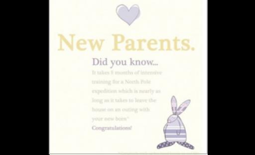 Rufus Rabbit New Parents Card