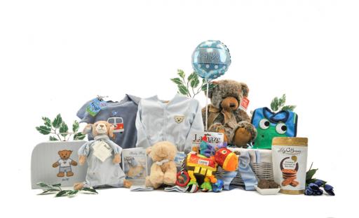 Signature Baby Boy Gift Basket
