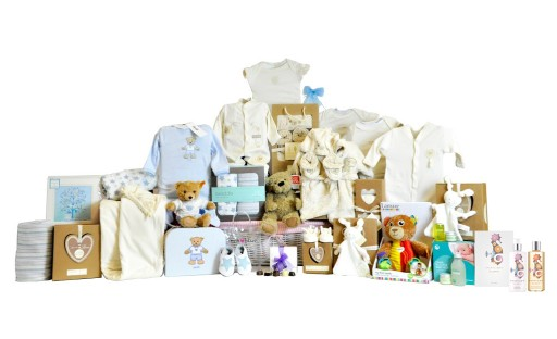Timeless Baby Boy Basket
