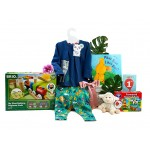 Railway Fun 1st Birthday Girl Gift Basket