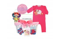 Cutey Pie Baby Girl gift basket