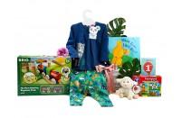 Railway Fun 1st Birthday Girl Gift Basket