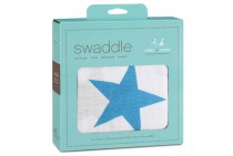 Aden + Anais Brilliant Blue Star Swaddle
