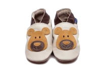 Bear Cream/Tan Baby Shoes