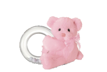 My First Teddy Pink Ring Rattle