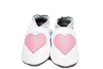 Soft Leather Shoes - Pink Heart