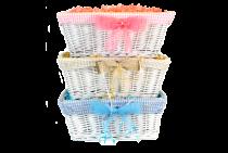 Medium White Gift Basket