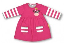 Olive & Moss Collette the Cow Baby Dress (6-12 months)
